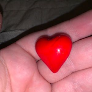 Small red stone heart